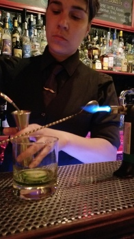 One of the fabulous bartenders at Le Bar Lab, a creative cocktail bar that reverberates with a little 1900s flair and a twist of Caribbean. It's an odd mix that works.