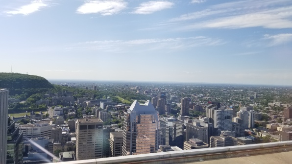 The topside view of the city