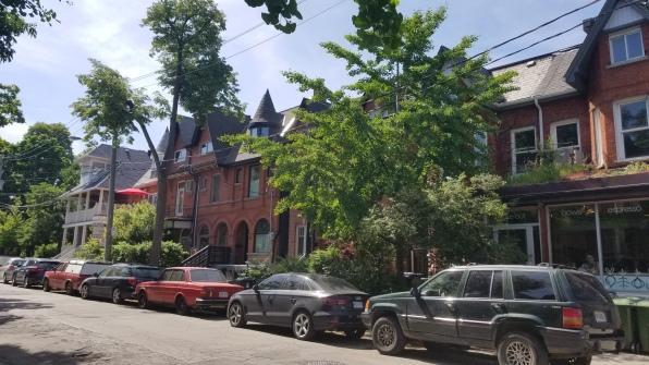 A neighborhood street near Kensington