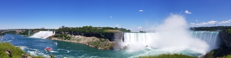 The totally FREE and always-available view of the falls from the Canadian side