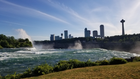 The view from the American falls. For real?