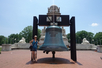 A 2:1 scale replica of the Liberty Bell