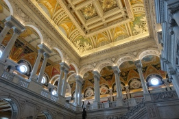 Inside the Jefferson building at the Library of Congress