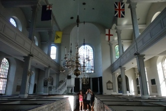 The Old North Church; see the pew boxes