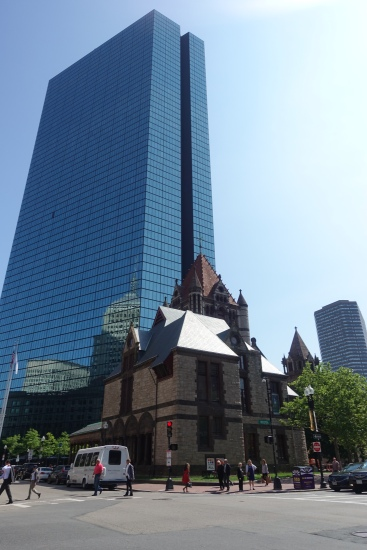 Trinity Church (in front of a hideous skyscraper)