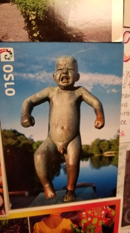 I want to see this angry baby statue in person one day haha