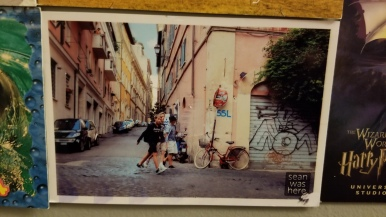 Another kickstarter project, where a guy sent postcards from his travels using his own photographs.