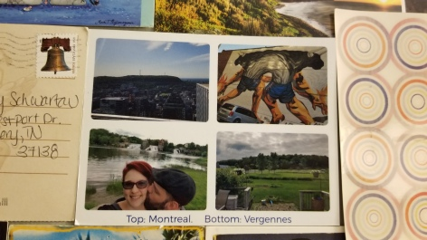 One of the Touchnote postcards we sent out to people during our roadtrip.
