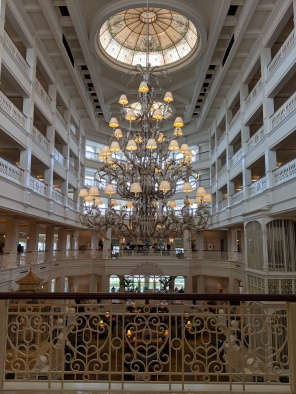 The main lobby at the Grand Floridian