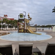 The kids' Alice in Wonderland pool at the Grand Floridian