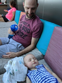 Keeping baby cool with the spritzer